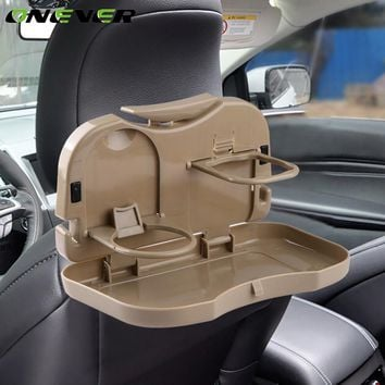 Onever Universal Auto Car Back Seat Drink Holder Folding Cup Organizer Stand Tray Dining Table Pallet Coffee Food Cups Holder