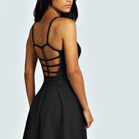 Faye Strappy Cage Back Detail Skater Dress