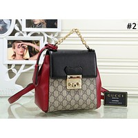 GUCCI Padlock Tide brand female classic double G printing flip cover backpack back #2