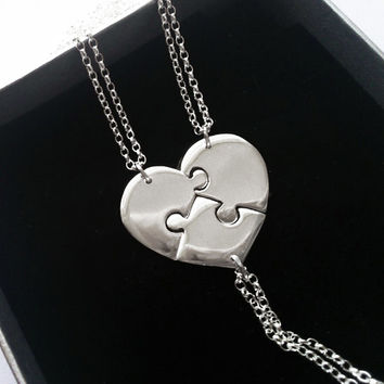3 Best Friend Necklace, Sisters Necklaces, Three Best Friends
