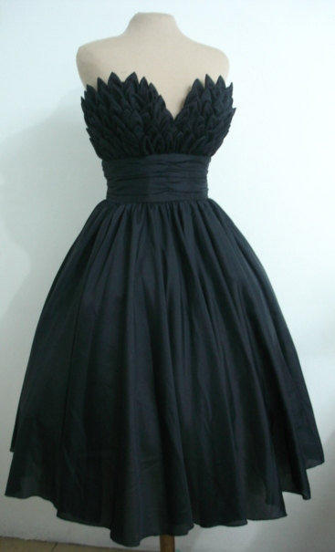 Alluring intricacy, 50s inspired ball dress with beautiful bust detail. Can be made to measure. All sizes welcome.