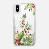 Casetify iPhone X Classic Grip Case - Holly Jolly by Allison Reich