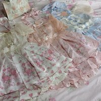 Liz Lisa Princess Floral Chiffon Organza Overlay Baby Doll Top & Sukapan / Pant-Skirt Set (NwT) from Kawaii Gyaru Shop