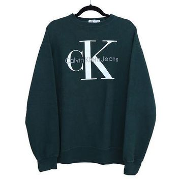 Calvin klein Jeans Fashion Long Sleeve Pullover Sweatshirt Top Sweater-3