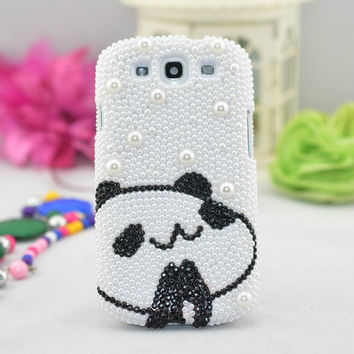 Handmade Phone case for Samsung Galaxy S4 Samsung Galaxy S3 Samsung Galaxy note 2 iphone4/4s iphone 5 bling Lovely Bear