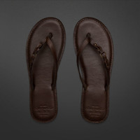 Genuine Leather Flip Flops