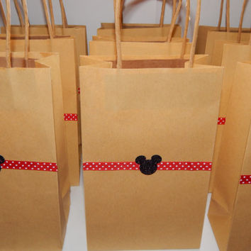 Mickey Mouse Party Bags - Mickey Mouse Party Favors - Fish Extender Gifts - Set of 10 bags