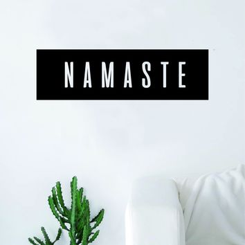 Namaste Rectangle Wall Decal Sticker Vinyl Art Bedroom Living Room Decor Quote Yoga Meditate