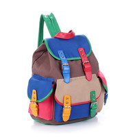 Colorful Canvas Backpack