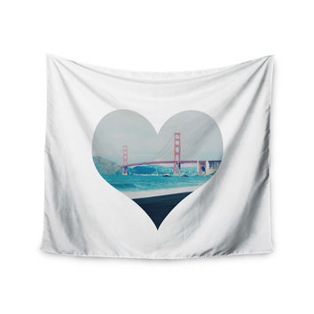 "Chelsea Victoria ""San Francisco Love"" Coastal Blue Wall Tapestry"