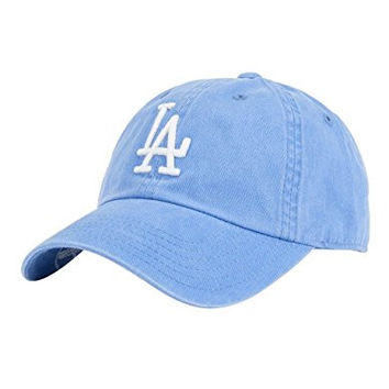 AMERICAN NEEDLE MLB Baseball LA Dodgers Dad Hat, Blue