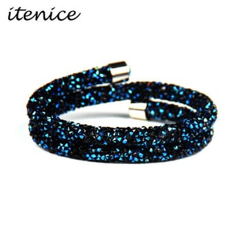 Itenice 2017 New Fashion Jewelry Rhinestone Star Pave Setting Long Crystal Bracelets And Bangle For Women