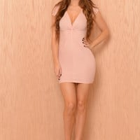 Knaughty Girl Dress - Blush