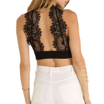 Lace Patchwork Women Tank Top 2016 New Fashion