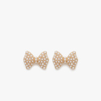 Pearl Pave Bow Stud Earring