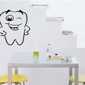 Funny Tooth Kids Decor Brush your Teeth Wall Art Sticker Decal 2809