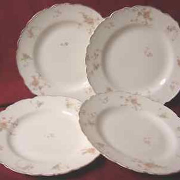 Vintage Johnson Brothers China dinnerware Moss Rose set 4 lunch & Best Johnson Brothers Plates Products on Wanelo
