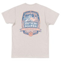 Genuine Collection - Fly Fishing Tee in Washed Oatmeal by Southern Marsh