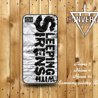 Sleeping with Sirens   Handmade Case for Iphone 4/4s,Iphone5 Case,Samsung Galaxy s2,s3