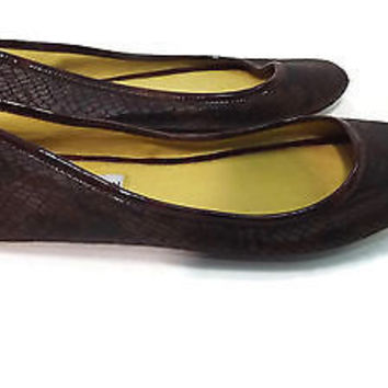 STEVE MADDEN womens Comfy Flat Brown Black Snake Print Shoes Size 5.5 M