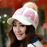 Cute Knitting Warm Winter Hat Beanies For Women (3 Styles)