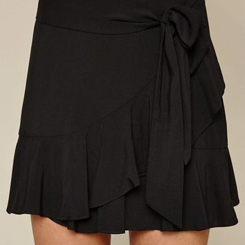 LA Hearts Ruffle Tie Skirt at PacSun.com