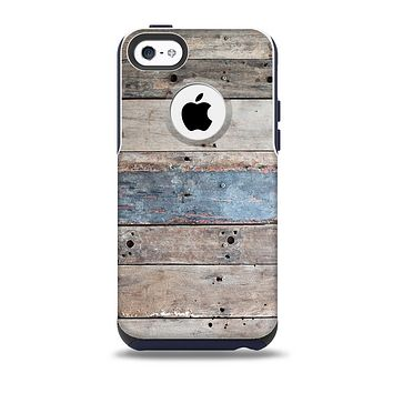 The Multicolored Tinted Wooden Planks Skin for the iPhone 5c OtterBox Commuter Case