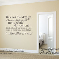 Wall Decals Love Like Crazy Country Song Lyrics 083- 32""