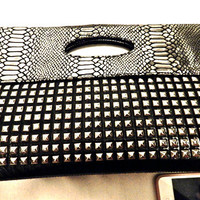 Maxi  Oversized Studded Clutch by JuliLand on Etsy