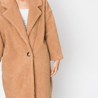 Ursa Major Teddy Coat in Apricot