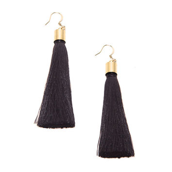 Haarstick Black Tassel Earrings
