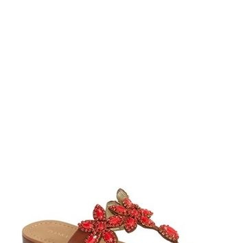 Women's Ivanka Trump 'Paira' Crystal Embellished Leather Sandal (Nordstrom Exclusive)