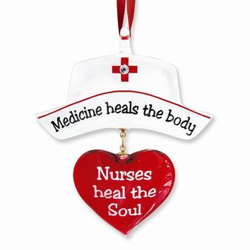 Nurse Glass Ornament - Perfect Nurse Gift