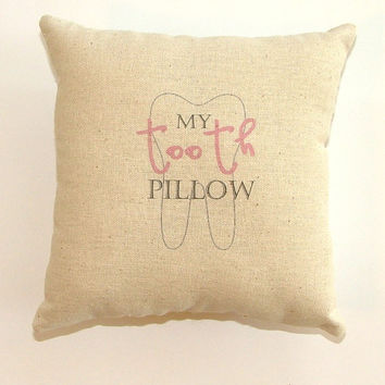 SALE - Girl Tooth Fairy Pillow with pocket on the back