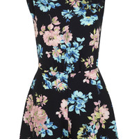 Black Floral Playsuit - View All - New In