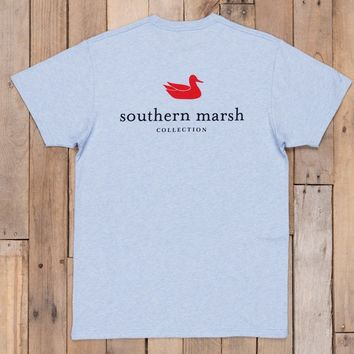 Southern Marsh Authentic Tee - Washed Blue Heather