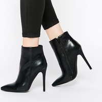 Boohoo Pointed Heeled Ankle Boots