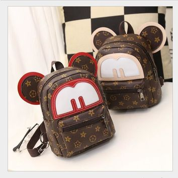 Super sequin backpack 3D cat bags Mickey Mouse backpack bag big ears child cute cartoon small Backpack lovely women Emoji bag