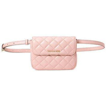 New Authentic Michael Kors Sloan Small Belt Waist Quilted Soft Leather Bag