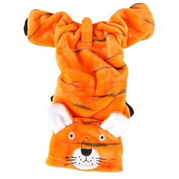 Halloween Pet Costume Tiger Turned Clothes Small Clothes Autumn And Winter Teddy Clothes Warm Cute Coral Velvet Comfort Fabric