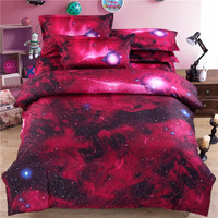 New 3d Galaxy Bedding Sets Twin/Queen Size Universe Outer Space Themed Bedspread 3pcs/4pcs Bed Linen Bed Sheets Duvet Cover Set