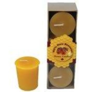 Pure Beeswax Candles Votives 3 count