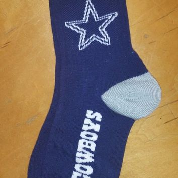 New DALLAS COWBOYS  CREW SOCKS  Authentic NFL Apparel