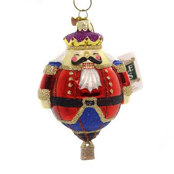 Noble Gems HOT AIR BALLOON ORNAMENT Glass Christmas Delivery Nb1079 Nutcracker