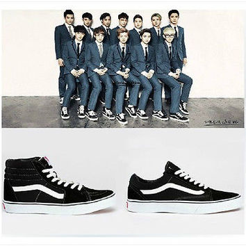 PRE-ORDER KPOP EXO HIGN/LOW sneaker casual shoes FASION SHOE YG FAN eshop GIFT