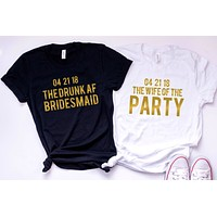 Funny Bachelorette Party Customized Tees or Tanks