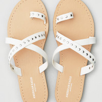 AEO Studded Slide Sandal, White