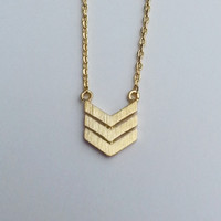 Mini Chevron Necklace - Gold
