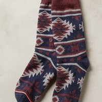 Southwest Crew Socks by Anthropologie Brown Motif One Size Lounge