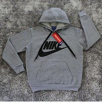 Nike: Male / female fashion sports sweater grey hoodie I